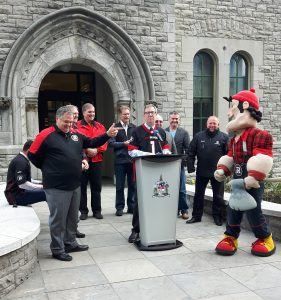Ottawa Red Blacks Flag Raising